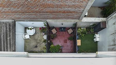 urban scene top view courtyards