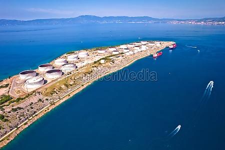 lng terminal on krk island aerial