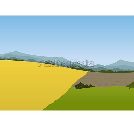 spring mountain landscape