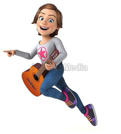 fun 3d cartoon teenage girl