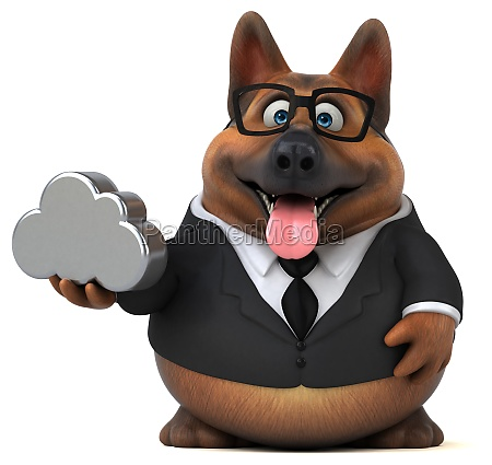 german shepherd dog 3d illustration