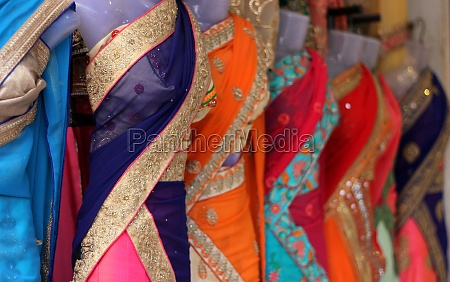 indian woman fashion embroidered saree or