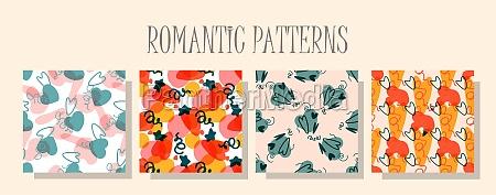 romantic love pattern a set of