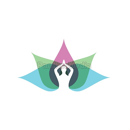 yoga vector icon design illustration