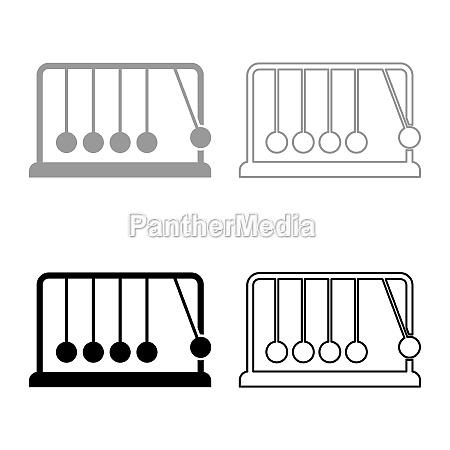 cradle newton metal metronome newtons balance