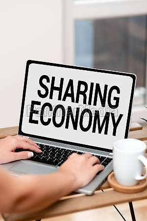 text caption presenting sharing economy business