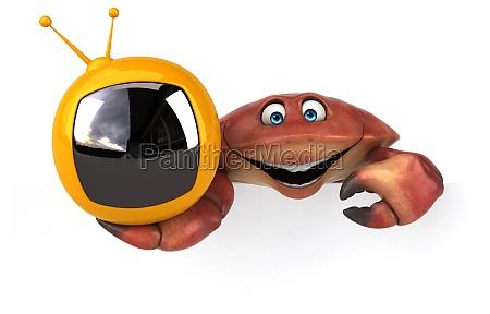 fun crab 3d illustration