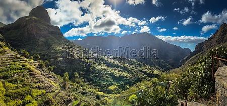masca valley tenerife spain high