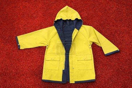 yellow, clothing, protection, dress, hood, jacket - B359062932