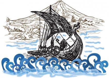vector illustration art transport transportation mountain