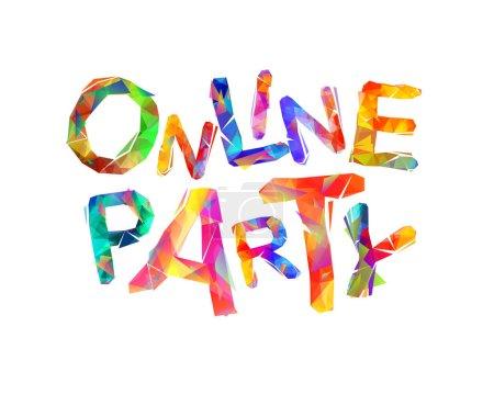 fun triangle nightlife vector clubbing colorful