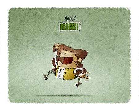 green victory graphic illustration design high
