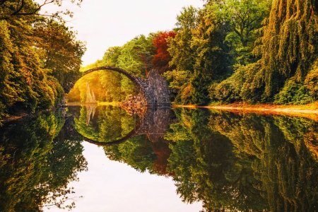 sunlight, park, sunrise, bridge, landscape, dawn - B138140584