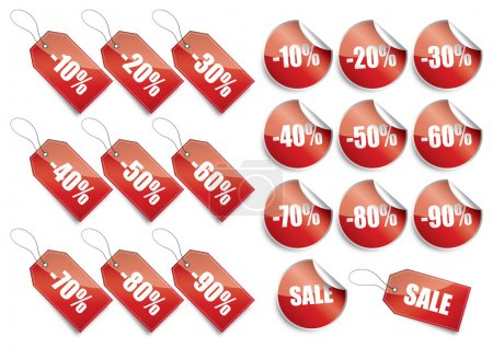 vector, object, set, shopping, isolated, discount - B9801289
