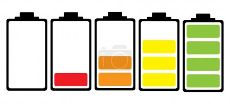green, red, yellow, white, object, illustration - B8643379