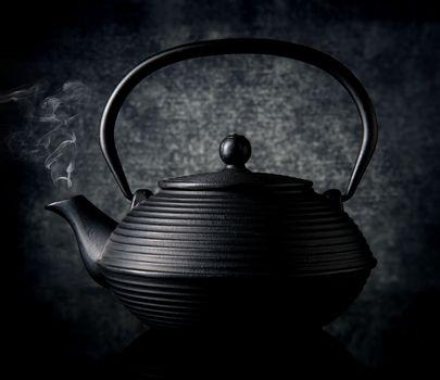 teapot, kettle, black, tea, chinese, japanese - D21271736