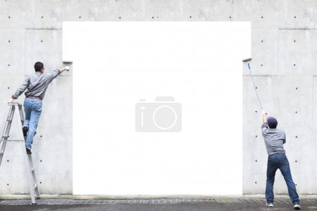 white background on design painting space