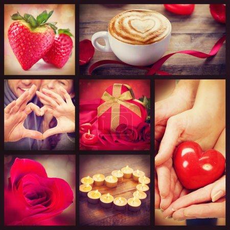 color red background design gift bridal