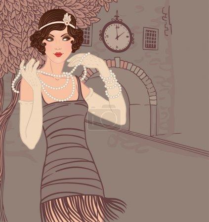 vector graphic illustration design beautiful person