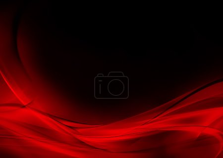 red background colorful curve graphic illustration