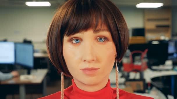 computer artificial human female model head