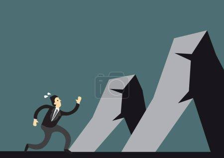 sport competition vector illustration business risk