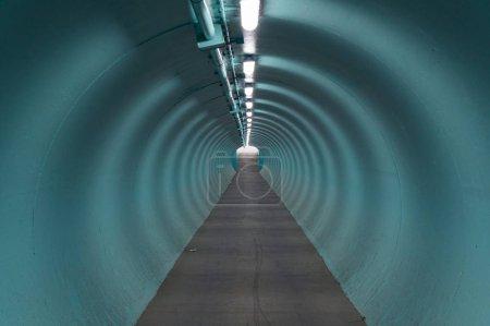 blue round light industrial end futuristic