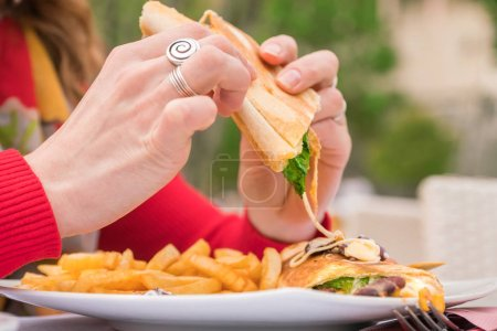 background human female people knife food