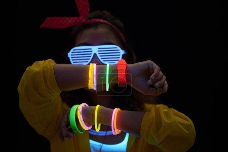 nightlife colorful vibrant bright illuminated person