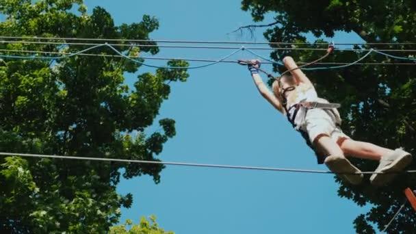 sport high sky equipment girl summer
