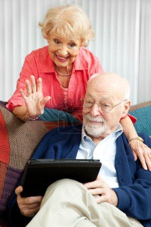 fun computer on happy person female