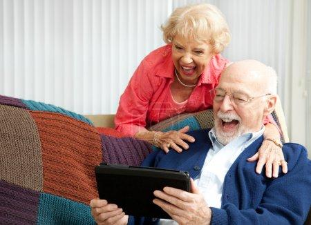 fun computer happy person female smiling