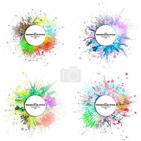 vector round background colorful circle element