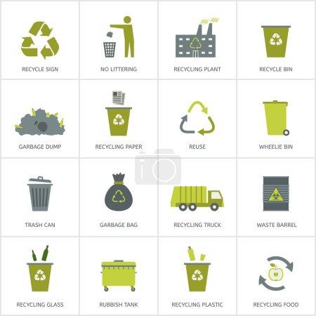 green, vector, paper, bag, glass, box - B63479099