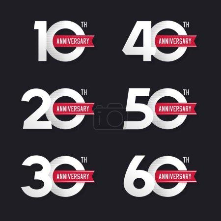 vector, number, illustration, design, anniversary, birthday - B93319088