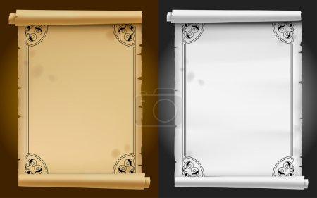 white, vector, background, element, design, paper - B106208514