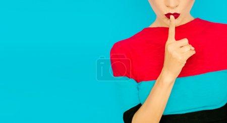color image red blue background on