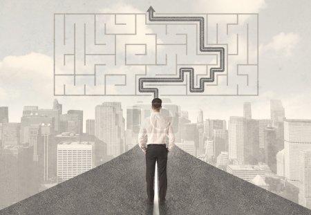 focus path business sign success cut