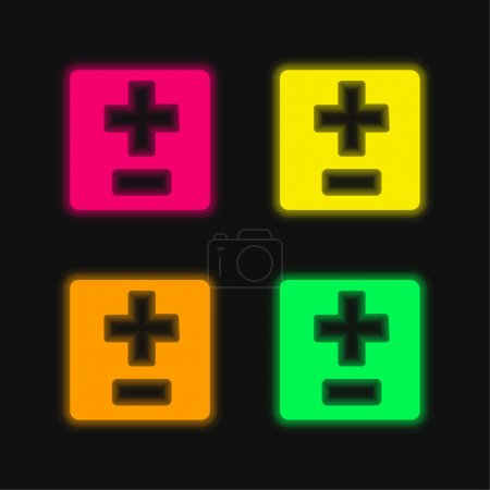 green, red, yellow, vector, icon, night - B470868736
