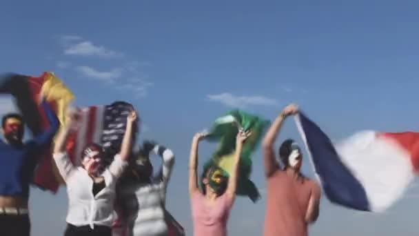 sport colors group competitive sky celebration